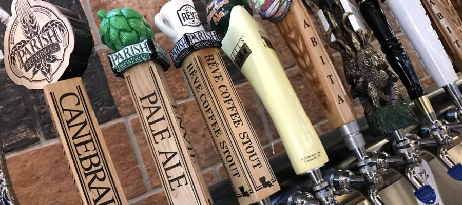 Beer taps at Twisted Root Burger Company