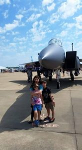 Barksdale Air Force Base Air Show fan Mark Patterson and family.