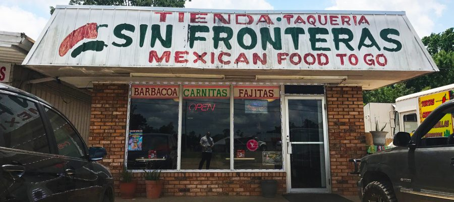 Taqueria Sin Frontera on Highway 80, Haughton, located in Bossier Parish