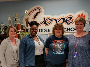 Staff members from Cope Middle School