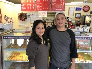 Owner of Star Donuts Steve Chhim and wife