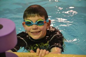 child at The Swim School