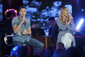 Garrett Jacobs performs with Colbie Caillat