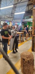 Bossier Parish at Night includes throwing axes at Bayou Axe Company.